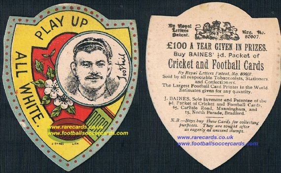 1908 Bradford Bulls Toohill Rugby Bradford Northern card by Baines